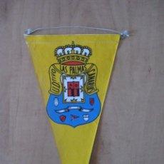 Banderines de colección: BANDERIN UNION DEPORTIVO LAS PALMAS,ENTELADO Y SERIGRAFIADO.OBSEQUIO CARAMELOS KIKI. Lote 52984896