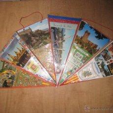 Banderines de colección: BANDERINES,LOTE 6 BANDERINES DIVERSAS CIUDADES ESPAÑOLAS,AÑOS 70.. Lote 53324615