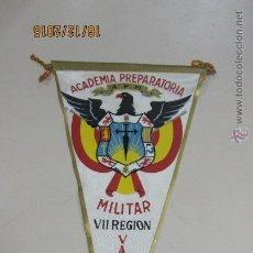 Banderines de colección: BANDERIN. ACADEMIA PREPARATORIA. MILITAR. VII REGION. VALLADOLID. 27 CM. SEDA. Lote 53333516
