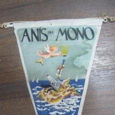 Banderines de colección: BANDERIN ANIS DEL MONO. EL NIETO PREFERIDO DEL LOBO DE MAR.. Lote 53972070