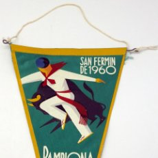 Fanions de collection: BANDERÍN TELA SAN FERMÍN PAMPLONA 1960. Lote 54223785
