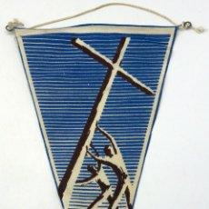 Banderines de colección: BANDERÍN TELA DÍA DEL DOMUND MISIONES AÑOS 60. Lote 54223853