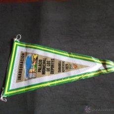 Banderines de colección: BANDERINES-ANTIGUOS-SIGLOXX-V39-CATALUÑA-BARCELONA-SABADELL-PALACIO MUNICIPAL DE LOS DEPORTES-1970. Lote 54295572