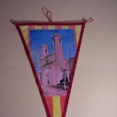 Banderines de colección: BANDERÍN (OLOST DE LLUSSANES) PLÁSTICO CON BORDES EN TELA. Lote 54350010