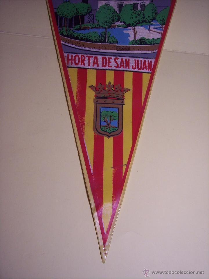 Banderines de colección: BANDERÍN (HORTA DE SAN JUAN) PLASTIFCADO - Foto 2 - 54484450