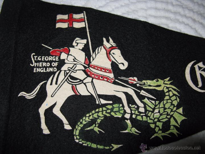 Banderines de colección: ANTIGÜO BANDERIN INGLES ST. GEORGE HERO OF ENGLAND - Foto 3 - 54491387