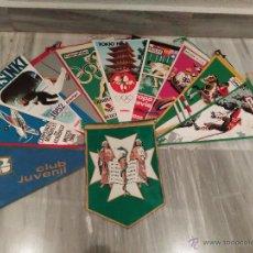 Banderines de colección: LOTE DE 10 BANDERINES DEPORTIVOS - OLIMPICOS - BIMBO - PUBLICIDAD. Lote 54776507