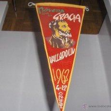 Galhardetes de coleção: BANDERIN - AÑOS 60 - NOVENA DE GRACIAS VALLADOLID - AÑO 1963. Lote 54839599