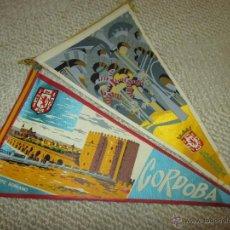 Banderines de colección: CÓRDOBA, LOTE DE DOS BANDERINES DE TELA DE LOS AÑOS 60. Lote 54930628