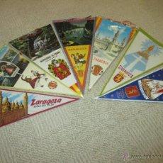 Banderines de colección: ZARAGOZA, LOTE DE SIETE BANDERINES DE TELA Y PLÁSTICO DE LOS AÑOS 60, VIRGEN DEL PILAR. Lote 54931616