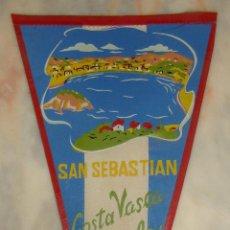 Banderines de colección: BANDERIN SAN SEBASTIAN COSTA VASCA ESPAÑOLA. Lote 55344520