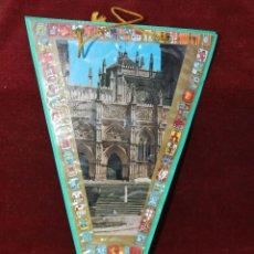Banderines de colección: ANTIGUO BANDERIN REAL MONASTERIO DE GUADALUPE AÑOS 60, FACHADA. Lote 55820091