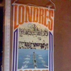 Banderines de colección: BANDERIN PROMOCIONAL PASTELITOS BIMBO OLIMPIADAS LONDRES 1908. Lote 55932285