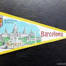 Banderines de colección: BANDERÍN PALACIO MUNICIPAL DE MONTJUICH - BARCELONA - AÑOS 60.. Lote 55996593