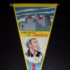 Banderines de colección: BANDERÍN CASTILLO DE JAVIER,NAVARRA. Lote 56194237