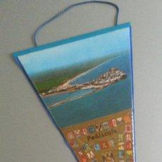 Banderines de colección: BANDERIN PEÑISCOLA PENYISCOLA ESCUDO ESPAÑA FRANQUISTA AÑOS 70. Lote 56889257