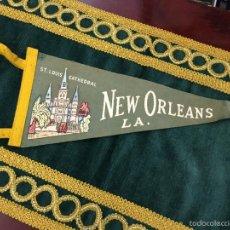 Banderines de colección: BANDERIN ST. LOUIS CATHEDRAL NEW ORLEANS LA. - MEDIDA 30CM. Lote 57042339