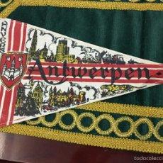 Banderines de colección: BANDERIN ANVERS ANTWERP ANTWERPEN - MEDIDA 32CM. Lote 57042455