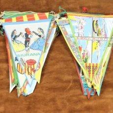 Banderines de colección: COLECCION DE 81 BANDERINES. CIUDADES Y DEPORTES. AÑOS 50-60. . Lote 57228613