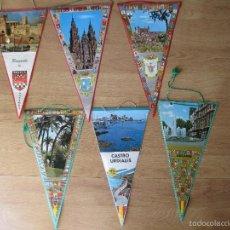 Banderines de colección: LOTE 6 BANDERINES DIFERENTES COMUNIDADES DE LOS AÑOS 60/70. Lote 40303126