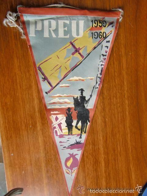 BANDERIN PREU 1959-1960 UNIVERSIDAD DE GRANADA (Coleccionismo - Banderines)