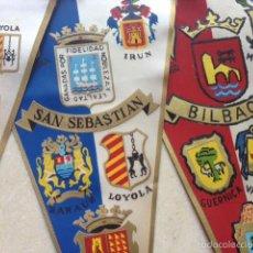 Banderines de colección: LOTE 3 BANDERÍNES CIUDADES ESPAÑOLAS ANTIGUO. Lote 58097586