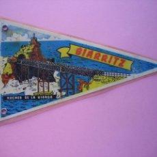 Banderines de colección: BANDERIN ANTIGUO -FRANCIA - BIARRITZ. Lote 58227545