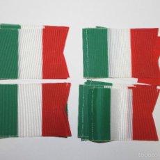Banderines de colección: LOTE 20 BANDERINES ANTIGUOS PARA BICICLETA, ITALIA, AÑOS 70. Lote 195420506