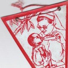 Banderines de colección: BANDERÍN DE TEMÁTICA RELIGIOSA.ENFERMERA CON BEBÉ. SANTA INFANCIA. DOMINF, AÑOS 50-60.. Lote 59557911