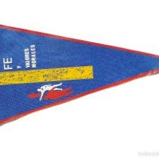 Banderines de colección: BANDERÍN DÍA DEL EMIGRANTE FE Y VALORES MORALES. Lote 59983395