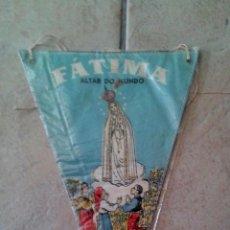 Banderines de colección: BANDERIN TELA FATIMA ALTAR DO MUNDO ( 2 CARAS ) - AÑOS 60 70 - MEDIDAS : 20 CM X 13 CM. Lote 60058903