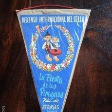 Banderines de colección: BANDERIN DESCENSO INTERNACIONAL DEL SELLA ASTURIAS FIESTA DE LAS PIRAGUAS. Lote 61158367