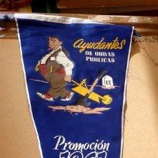 Banderines de colección: ESPECTACULAR BANDERIN, AÑOS 60, AYUDANTES OBRAS PUBLICAS, 50 CMS, DE LARGO. Lote 61806208