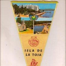 Banderines de colección: ANTIGUO BANDERIN ISLA DE LA TOJA. Lote 62681024