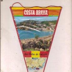 Fanions de collection: ANTIGUO BANDERIN COSTA BRAVA SAN FELIU DE GUIXOLS. Lote 62684064