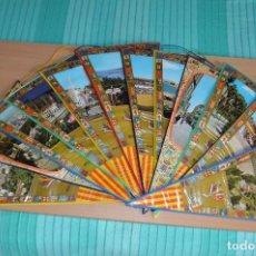 Banderines de colección: 12 BANDERINES - PLASTIFICADOS - MALAGA - ANTIGUOS. Lote 63185192