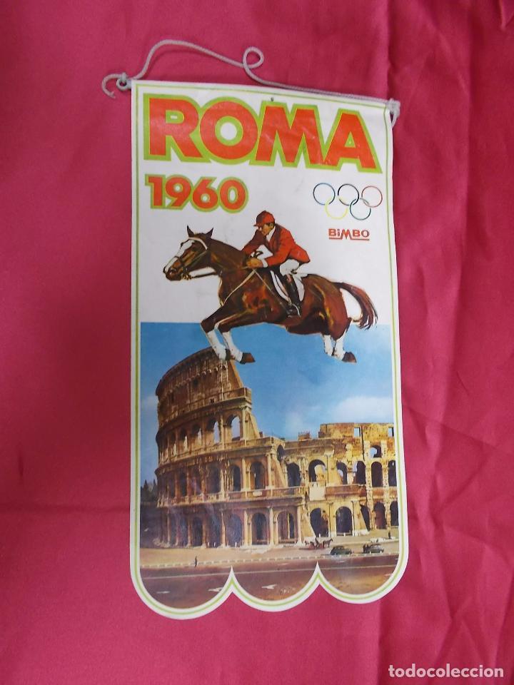 Antiguo Banderin Juegos Olimpicos Roma 1960 Comprar Banderines