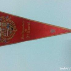 Banderines de colección: BANDERÍN REAL MONASTERIO EL ESCORIAL. TELA. 29 CM. AÑOS 60-70. IRUPE 1056. PATRIMONIO NACIONAL. . Lote 70404933