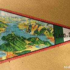 Banderines de colección: BANDERÍN LAGO DI COMO (ITALIA). Lote 71615479