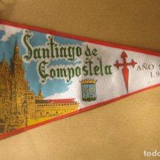 Banderines de colección: BANDERÍN SANTIAGO DE COMPOSTELA. AÑO SANTO 1965. Lote 71615899