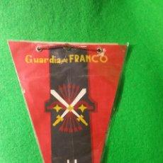 Banderines de colección: RARO Y CURIOSO BANDERIN GUARDIA DE FRANCO HUELVA. Lote 72816563
