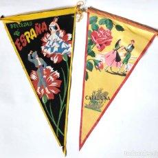 Banderines de colección: 2 BANDERINES ESPAÑA ANDALUCIA. Lote 74851383