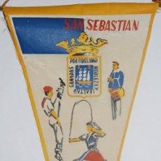 Banderines de colección: BANDERIN SAN SEBASTIAN. Lote 77112721