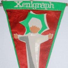 Banderines de colección: BANDERIN XENIGRAPH FELIZ Y PROSPERO AÑO 1965. Lote 77112869