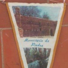 Banderines de colección: BANDERÍN ANTIGUO MONASTERIO DE PIEDRA . Lote 77318593