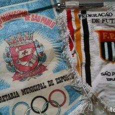 Banderines de colección: LOTE DOS BANDERINES DE FUTBOL BRASIL SAO PAULO. DIFICILES.. Lote 77594481