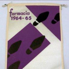Banderines de colección: BANDERÍN PASO ECUADOR FARMACIA 1964 - 1965. Lote 77889245