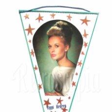 Banderines de colección: BANDERIN DE TIPPI HEDREN AÑOS 60 OSCAR. Lote 78608565