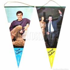 Banderines de colección: BANDERIN A DOBLE CARA DE TONY / ANTHONY PERKINS Y GEORGE CHAKIRIS AÑOS 60 OSCAR. Lote 78608809