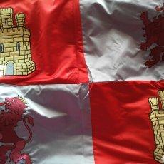 Banderines de colección: BANDERA CASTILLA Y LEON. RASO BORDADA. Lote 79709283